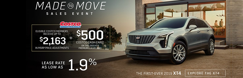 Cadillac XT4 Offers August 2019